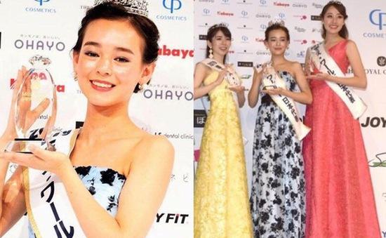 Nhan sắc Tân Hoa hậu Nhật Bản có chiều cao thấp nhất lịch sử mới 16 tuổi