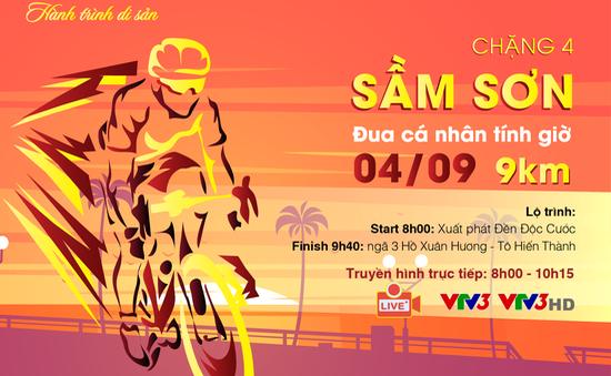 Chặng 4 Giải xe đạp Quốc tế VTV Cúp Tôn Hoa Sen 2019: Đua cá nhân tính giờ tại Sầm Sơn (08:00 ngày 4/9 trên VTV3)