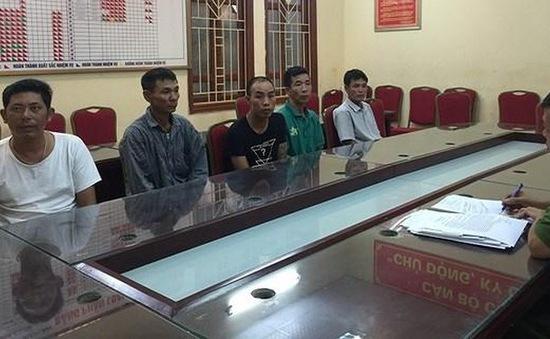 Bắt giữ nhóm trấn lột tiền ở Pháp Vân, Hà Nội