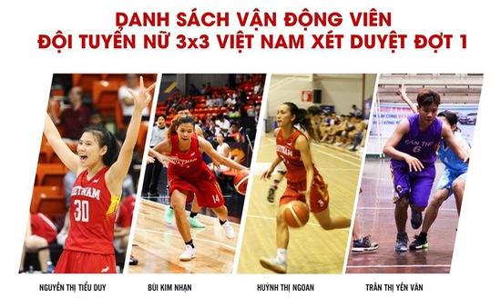 Lộ diện danh sách triệu tập sơ bộ của đội tuyển bóng rổ nam và nữ Việt Nam