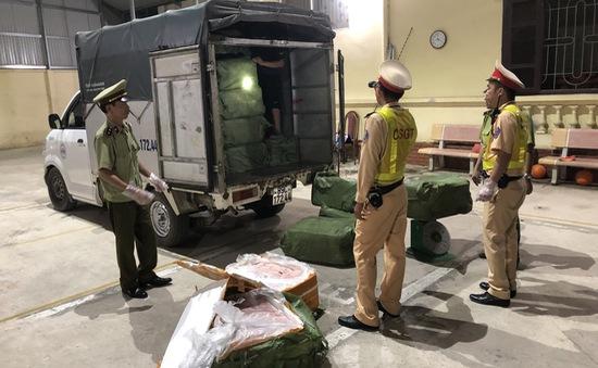 Ngăn chặn kịp thời 2.500kg nầm lợn ôi thối nhập lậu từ Trung Quốc