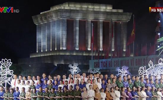 Lãnh đạo Đảng, Nhà nước dự chương trình cầu truyền hình 50 năm thực hiện Di chúc của Bác