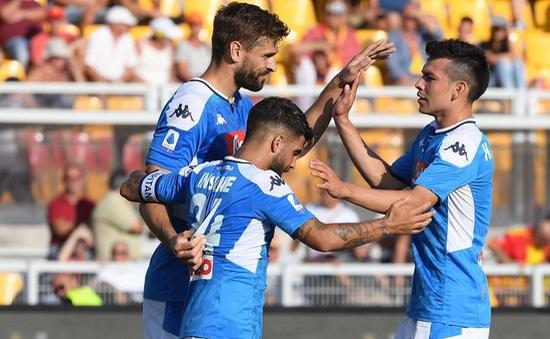 Kết quả, BXH Vòng 4 VĐQG Italia: Lecce 1-4 Napoli, Bologna 1-2 Roma