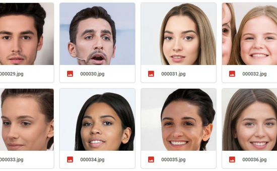 100.000 bức ảnh mặt người do AI tạo ra sẽ được đăng tải miễn phí