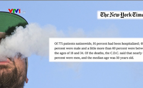 Khủng hoảng y tế liên quan đến thuốc lá điện tử tại Mỹ