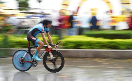 [KT] Chặng 4 Giải xe đạp Quốc tế VTV Cúp Tôn Hoa Sen 2019: Loic Desriac nhất chặng, giành áo vàng!