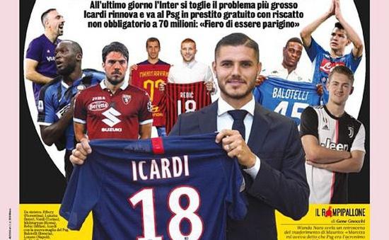 Báo chí Italia… chúc mừng Inter Milan vì đã chia tay Mauro Icardi