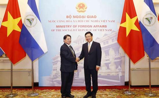 Phó Thủ tướng Phạm Bình Minh hội đàm với Bộ trưởng Bộ Ngoại giao Nicaragua