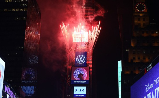 1,5 triệu người dân Mỹ đón năm mới tại Quảng trường Thời đại
