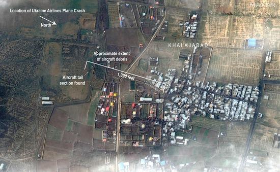 Ukraine đề nghị hỗ trợ điều tra vụ rơi máy bay ở Iran