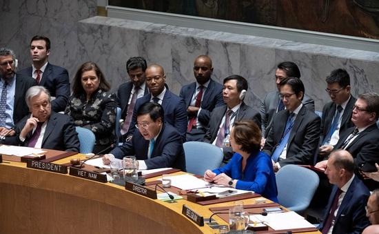 Thông qua Tuyên bố Chủ tịch do Việt Nam chủ trì soạn thảo về tôn trọng Hiến chương LHQ