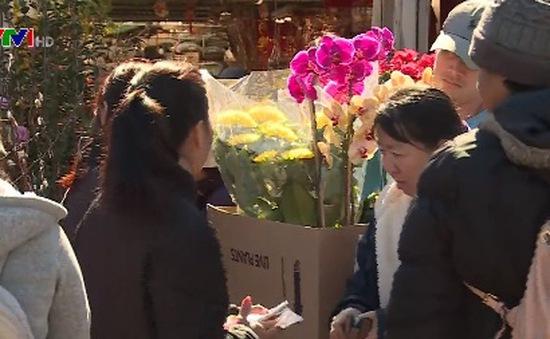 Chợ hoa ngày Tết tại Mỹ