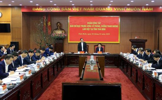 Kiểm tra phòng, chống tham nhũng tại Thái Bình
