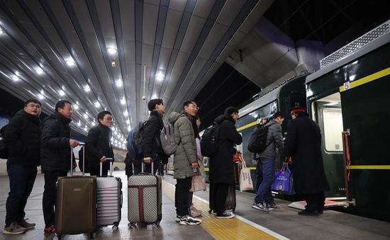 Trung Quốc: 300 triệu vé tàu đã có chủ sau hơn 20 ngày mở bán