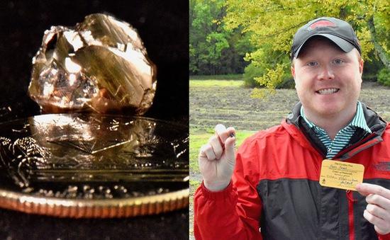 Thử tìm đá quý, nhặt được kim cương 9 carat trong công viên