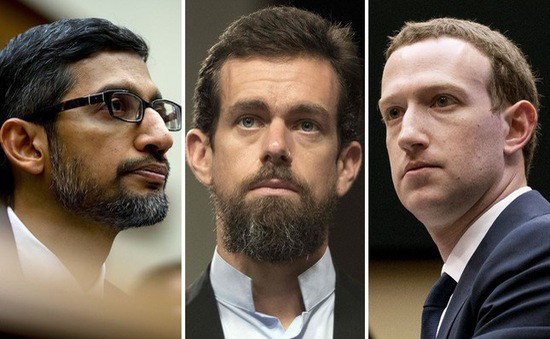 CEO Facebook, Twitter và Google điều trần về thông tin sai lệch