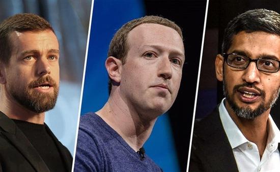 CEO Google, Twitter và Facebook điều trần tại Thượng viện Mỹ: Căng thẳng đổ dồn vào nghị sĩ hai đảng