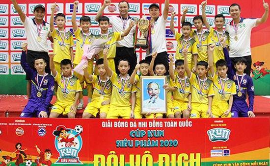 U11 Sông Lam Nghệ An vô địch giải bóng đá Nhi đồng toàn quốc 2020