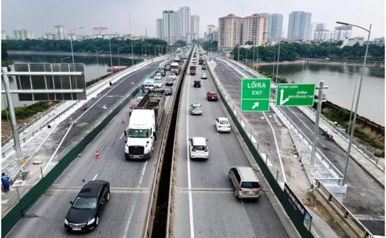 Phân luồng giao thông khi thông xe cầu vượt hồ Linh Đàm từ ngày 6/10
