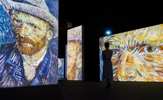 """""""Đắm mình"""" trong nghệ thuật tại triển lãm điện tử Van Gogh"""