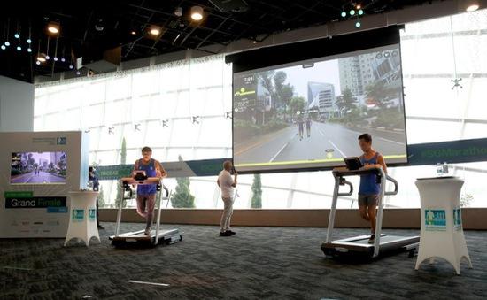 Giải marathon trực tuyến sử dụng công nghệ AR và đường đua ảo tại Singapore