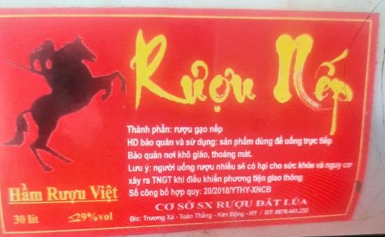 Thu hồi ngay sản phẩm Rượu nếp, Hầm Rượu Việt