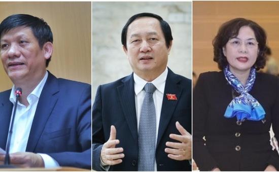 Quốc hội sẽ phê chuẩn việc bổ nhiệm 3 thành viên Chính phủ và Thẩm phán TANDTC