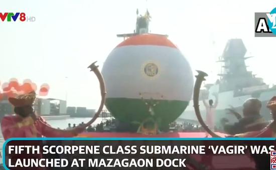 Ấn Độ hạ thủy tàu ngầm tàng hình hiện đại do Pháp thiết kế