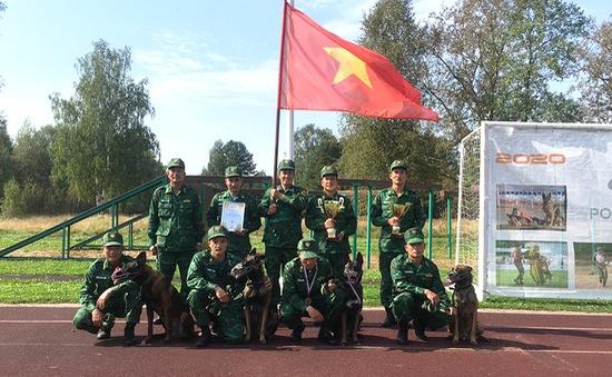 Hành trình chinh phục Army Games 2020 của đội HLV và chó nghiệp vụ Việt Nam