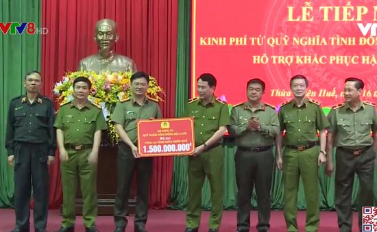 Bộ Công an hỗ trợ tỉnh Thừa Thiên - Huế khắc phục bão lũ