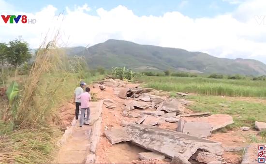 Phú Yên:  Nguy cơ trễ vụ Đông Xuân do thủy lợi hư hỏng nặng