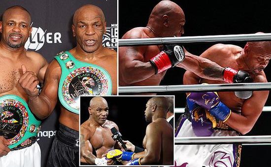 Tay đấm Mike Tyson hòa kịch tính ngày tái xuất
