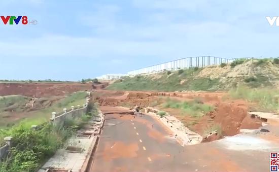 Đắk Nông: Sụt lún nghiêm trọng ở Khu công nghiệp Nhân Cơ