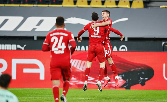 Kết quả Dortmund 2-3 Bayern Munich: Lewandowski toả sáng, Bayern thắng nghẹt thở!