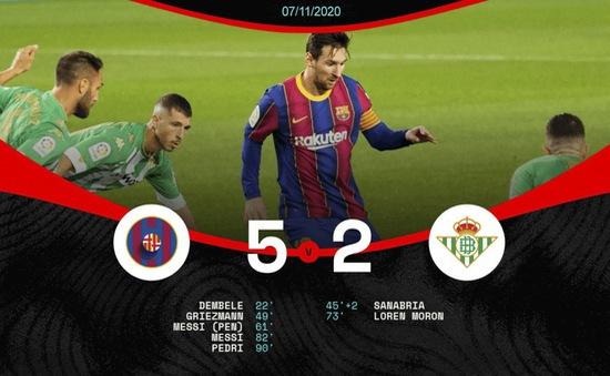 Barcelona 5-2 Real Betis: Người hùng Messi