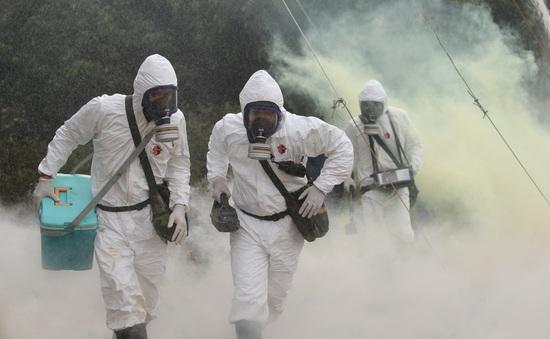 Bộ đội hóa học diễn tập ứng phó sự cố môi trường