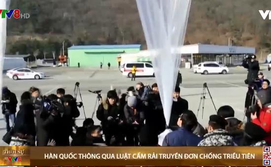 Hàn Quốc thông qua luật cấm rải truyền đơn chống Triều Tiên