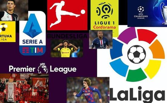 Lịch thi đấu, BXH các giải bóng đá VĐQG châu Âu: Ngoại hạng Anh, Bundesliga, Serie A, La Liga, Ligue I