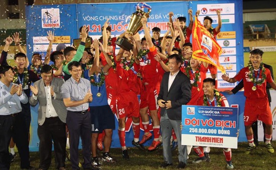 Các giải thưởng cá nhân giải U21 Quốc gia: Hữu Thắng xuất sắc nhất, Mạnh Dũng giành Vua phá lưới
