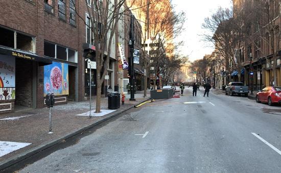 Nổ lớn rung chuyển thành phố Nashville, Mỹ, 3 người phải nhập viện