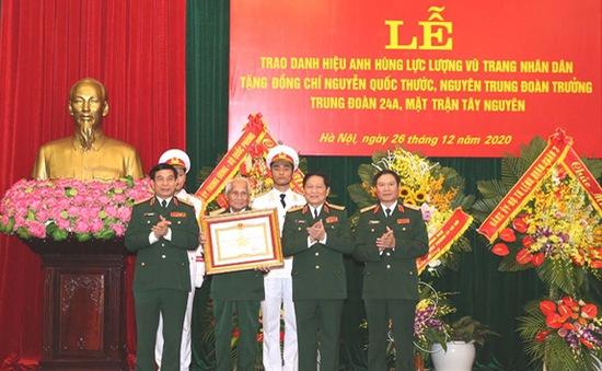 Trao danh hiệu Anh hùng LLVT nhân dân tặng Trung tướng Nguyễn Quốc Thước