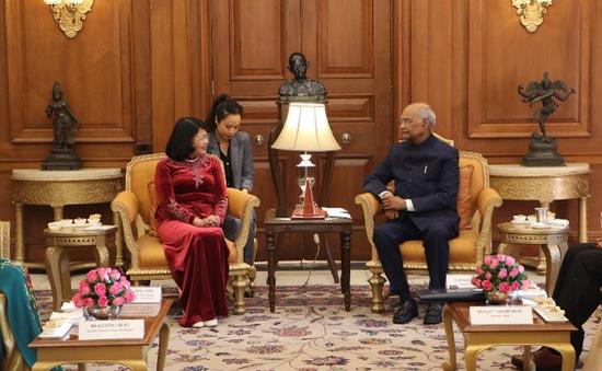 Phó Chủ tịch nước Đặng Thị Ngọc Thịnh hội kiến với Tổng thống Ấn Độ