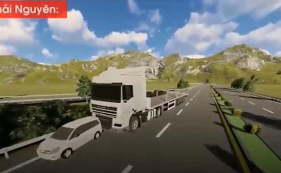 Xử phạt tài xế đi lùi trên cao tốc Hà Nội - Thái Nguyên