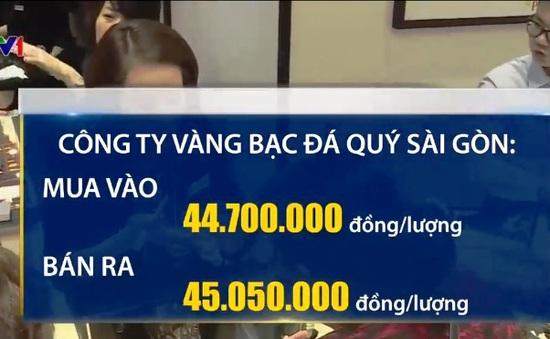 Giá vàng trong nước tăng đột biến, vượt 45 triệu/lượng sáng 19/2