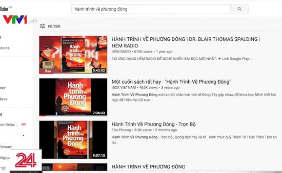 Vi phạm bản quyền sách nói trên YouTube
