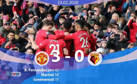 Man Utd 3-0 Watford: Bruno Fernandes toả sáng, Man Utd tiệm cận top 4 Ngoại hạng Anh
