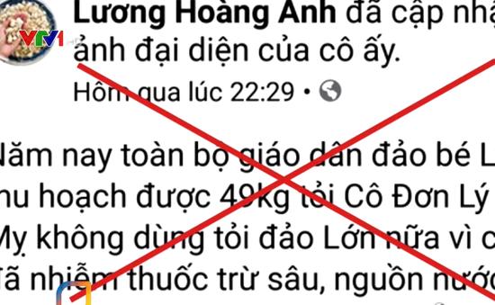 Phạt 12,5 triệu đồng nữ doanh nhân tung tin sai về tỏi Lý Sơn