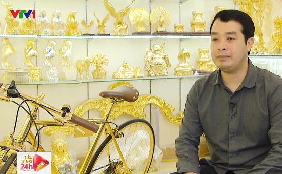 Chi hàng trăm triệu mạ vàng xe đạp