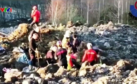 Lở đất tại Tây Ban Nha, 2 người mất tích