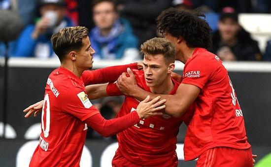 Bayern Munich thắng đậm Hoffenheim trong trận đấu 77 phút